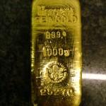 Gold Bullion Bar Biscuit